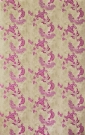 Close up on the hot pink patterns on tea stain wallpaper - Rockett St George
