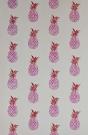 Barneby Gates Pineapple Wallpaper - Pink/Red