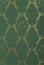 Barneby Gates Wallpaper - Boxing Hares - Billiard Green