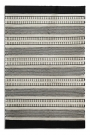 Black scale stripes on natural wool rug - Rockett St George