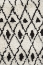 Close up of a diamond pattern deep pile African rug - Rockett St George
