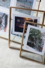 Brass & Glass Framed Desk Top Picture Frames