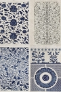 Mind The Gap Wallpaper Collection - Chinese Pattern - Blue