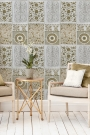 Mind The Gap Wallpaper Collection - Chinese Pattern - Brown