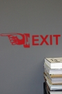 Exit Wall Sticker