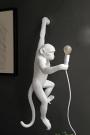 Left-Hand Hanging Monkey Wall Lamp - White
