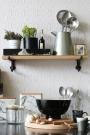 Oak Shelf With Cast Iron Brackets - Small