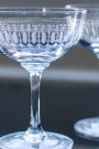 Set Of 6 Vintage Style Crystal Champagne Saucers - Ovals