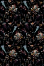 Jellyfish Wallpaper By 17 Patterns - Black
