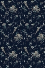 Jellyfish Wallpaper By 17 Patterns - Navy Blue