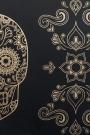 Day of the Dead Skull Wallpaper - Gold & Black