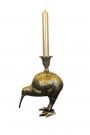 Antique Bronze Effect Kiwi Bird Candlestick Holder