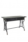 Image of the Black Metal Sideboard Desk on a white background