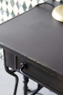 Close-up image of the top of the Black Metal Sideboard Desk