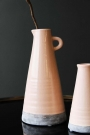 Magdia Silver Peony Pink Ceramic Jug Vase - Two Sizes Available