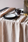 Blush Pink Woven Linen Tablecloth