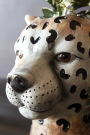 Close-up of the face of the Cute Cheetah Vase