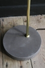 Polished Brass, Concrete & Black Shade Floor Lamp