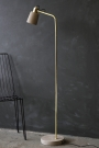 Concrete & Polished Brass Floor Lamp