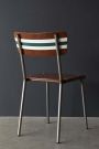 Contemporary Hand-Painted School Chair - French Grey & Mid Azure Green