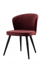Image of the Merlot Red Deco Velvet Dining Chair on a white background