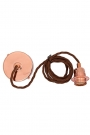 Image of the E27 Copper Flex & Fitting Set With Shade Ring on a white background