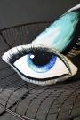 Blue Eye Silk Cushion