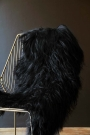 Genuine Icelandic Long Wool Sheepskin - Natural Black