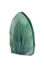 Image of the Emerald Green Palm Vase on a white background