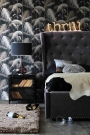 Liberty Slate Grey Buttoned King Size Bed