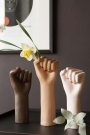 Lifestyle image of all three colours of the Girl Power Vase