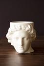 Front-on lifestyle image of the Greek Goddess Hestia Mug in white