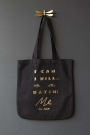 I Can, I Will Charity Tote Bag - Black & Gold