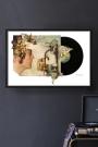 Unframed Imagine John Lennon Record Cover Collage by Alison Stockmarr