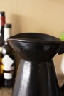 Close-up image of the neck and top of the Black Brown Terracotta Jug - Large