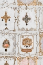 Close-up of the neutral shade of Anna's Jewellery wallpaper