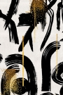 Close-up image of Gesterual Abstraction wallpaper