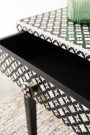 Mother Of Pearl Monochrome Console Table