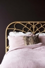 Close-up lifestyle of the Bloom Natural Rattan Headboard - Double Bed