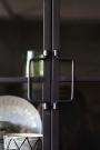 Rectangle Metal Glass Pane Wall Cabinet