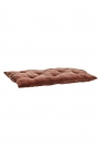 Image of the Rust Terracotta Soft Velvet Seat Pad Chair Cushion laying flat on a white background