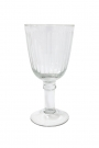 Image of the Elegant Engraved Stripes Wine Glass on a white background