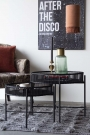 Set Of 2 Black Bamboo Side Tables