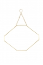 Image of the Octagon Gold Hanging Bathroom Mirror on a white background