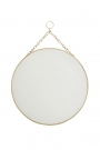 Image of the Round Brass Hanging Bathroom Mirror on a white background