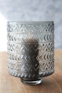 Zig Zag Hurricane Tea Light Holder / Vase