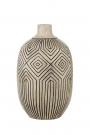 Image of the Stone & Black African Ceramic Bottle Vase on a white background