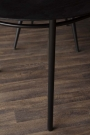 Close-up image of the legs on the Sungkai Wood Black Oval Dining Table