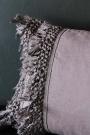 Tassel Cotton Cushion - Slate