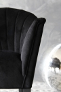 The Lovers Velvet Chair - Back to Black